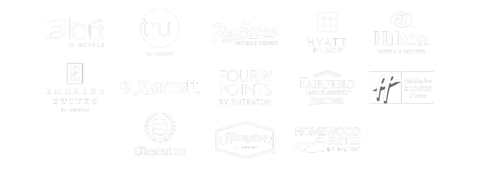 Top Hotel Brands Logos White